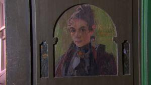 Karin Larsson avporträtterad av Carl Larsson.