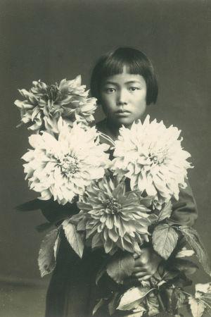 Kusama ca 10 år  gammal, 1939