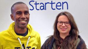"""Tariku """"Tarre"""" Alhfors och Johanna Baarman från Sveps."""