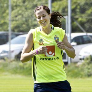 Lotta Schelin är Sveriges damlandslags bästa målskytt genom tiderna.