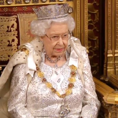 "Drottning Elisabeth II håller ""Queen's Speech"" i parlamentet 14.10.2019"