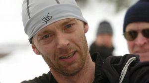 Mika Myllylä i Lahtis i februari 2004, tre år efter dopningsskandalen.