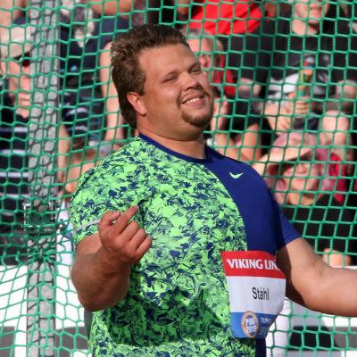Den svenska diskuskastaren Daniel Ståhl tävlade i Åbo i juni 2019.