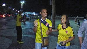 Fans på Copacabana i Rio