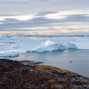 Ilulissatin jäävuoria Grönlannissa