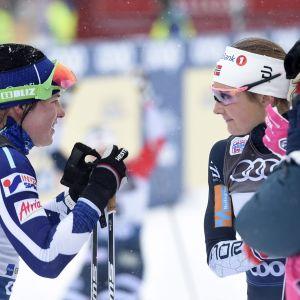 Krista Pärmäkoski och Ingvild Flugstad Östberg.