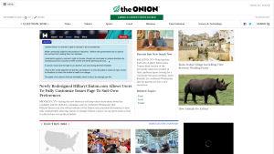 Kuvakaappaus The Onion -verkkojulkaisusta.