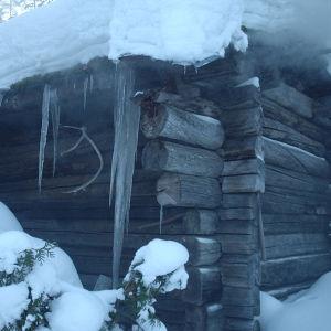 Sauna sijaitsee omakotitalon takapihalla, ja lämpiää 2-4 kertaa viikossa. Sauna on 26v vanha, ja rakennettu vanhoista riihen hirsistä, joiden ikä yli 100 vuotta.