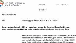 En text på finska.