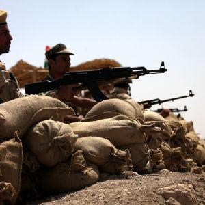 Kurdiska peshmergakrigare i Makhmour i augusti 2014.