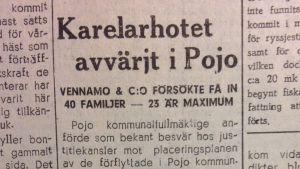 Artikel i tidningen Västra Nyland från den 14 maj 1947.