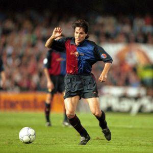 Jari Litmanen i FC Barcelonas legendariska speldräkt.