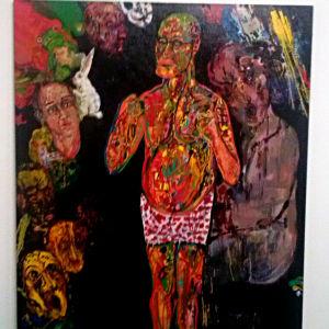 """""""Främling"""", självporträtt i olja av Henry Wuorila-Stenberg"""