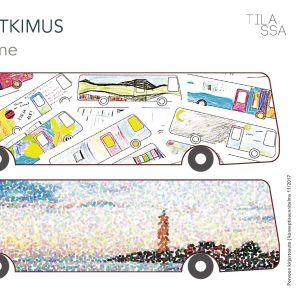Förslag på hur Borgås nya bokbuss kunde se ut utifrån.
