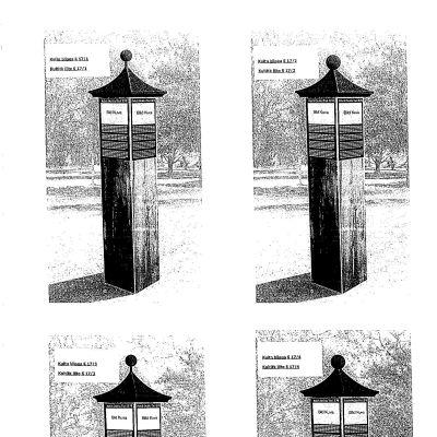 Två av alternativen för minnespelare för professorn i altaistik G.J. Ramstedt från Ekenäs.