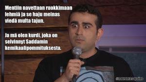 Koomikko keikalla
