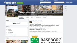 Printscreen på Raseborgs stads Facebooksida.
