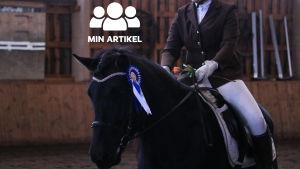 Jessica Grönlund med hästen Neppastiina.