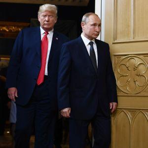 Bild på Putin och Trump