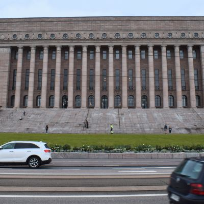 Finnish parliament building.