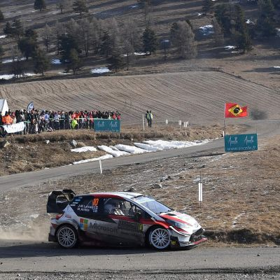 Jari-Matti Latvala kör i Monte Carlo