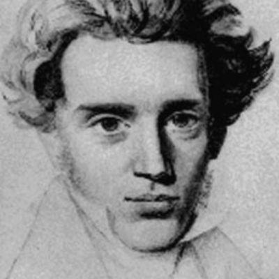 Sören Kierkegaard porträtt