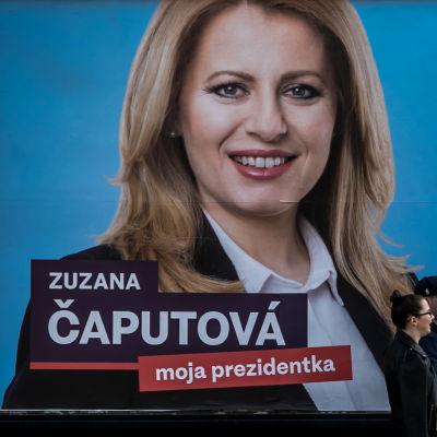 Valreklam för Zuzana Caputova i Slovaken.