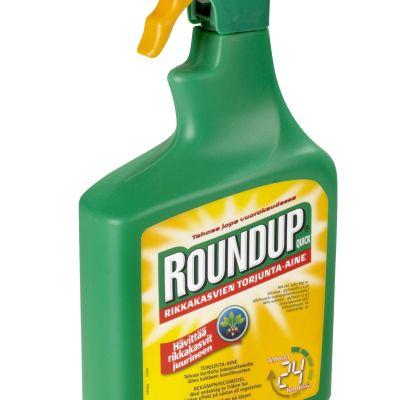 En flaska med bekämpningsmedlet Roundup.