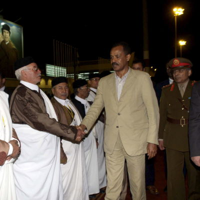 Eritreas president Isaias Afewerki