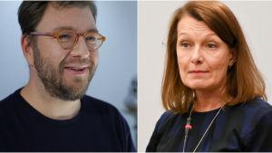 Timo Harakka och Lenita Toivakka.