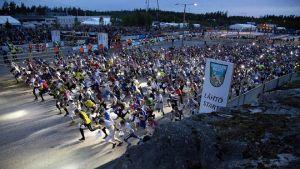 Starten i Jukolakavlen 2016.