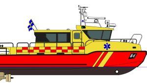 Kewatecs nya ambulansbåt som ska levereras till Landskrona.