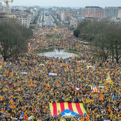 Mielenosoitukseen osallistui poliisin arvion mukaan 45000 ihmistä.