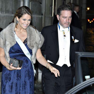 Ruotsin prinsessa Madeleine ja Chris O´Neill joulukuussa 2017.