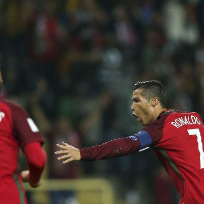 Cristiano Ronaldo var glödhet i fotbollsmatchen mot Andorra.