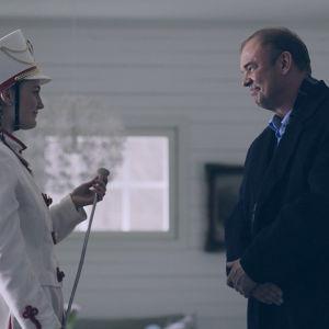 Minnie och Martin Backlund i dramaserien Lola uppochner