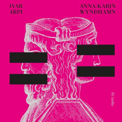 """Omslaget till boken """"Genusdoktrinen"""". En rosa pärm med två vittecknade byster med svarta censurerade streck över ögonen och munnarna."""