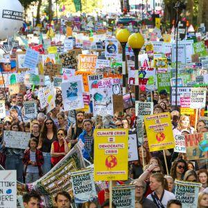 Klimatdemonstranter i London.