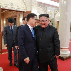 En delegation från Sydkorea ledd av Chung Eui-yong hade ett till synes lyckat möte med Kim Jong-Un i Pyongyang.