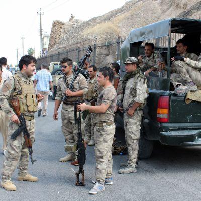 Kurdiska säkerhetsstyrkor i Kirkuk, norra Irak i september 2017.