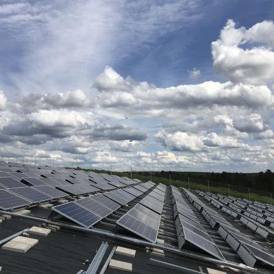 aurinkopaneelit aurinkoenergia sähkö