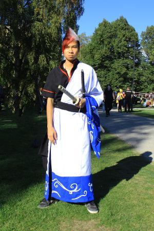 Samurain poseeraus.