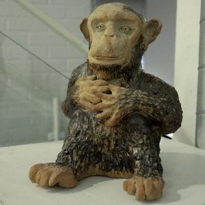 Anita Anttosen apina-teos Kuvataideakatemian näyttelyssä