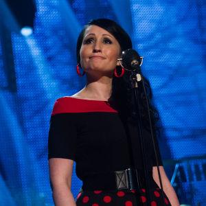 Nina Åkerman Tangokuningatarfinaalin ensimmäisellä kierroksella.