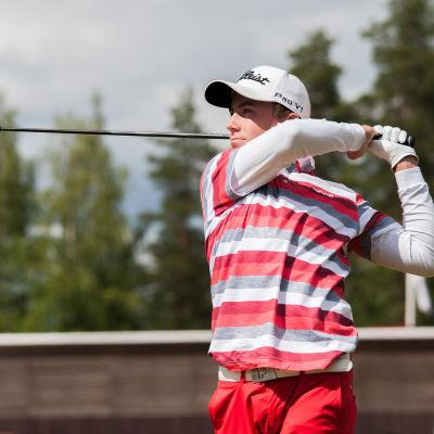 Golfspelaren Oliver Lindell