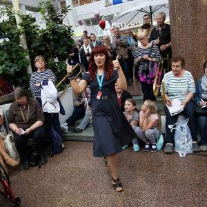 Piritta Venho oli mielissään päästessään jatkoon Turun Tangomaratonilla.