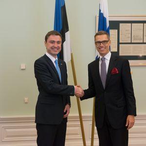 Alexander Stubb och Taavi Rõivas under Stubbs första statsbesök som statsminister.