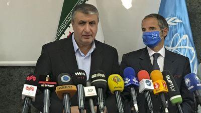 Mohammad Eslami och Rafael Grossi