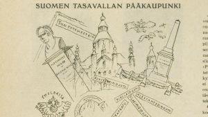 Helsinkiä Ylioppilaslehdessä 1920-luvulla