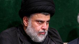 Muqtada al-Sadr (t.v.) och Qasem Soleimani